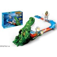 Автотрек Hot Wheel S8822, крокодил с машинами