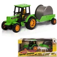 Фрикционная игрушка Трактор с прицепом: Укладка кабеля