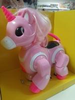 Интерактивный Робот Единорог розовый