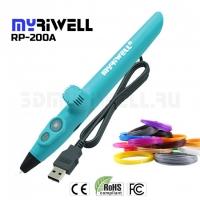 3D ручка Myriwell RP200A, синяя PCL