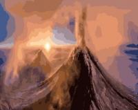 Картины по номерам 40х50 Вулкан