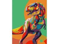 Картины по номерам 40х50 Радужный динозавр