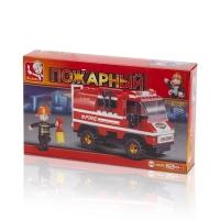 Конструктор SLUBAN Маленькая пожарная машина