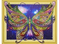 Алмазная мозаика 40х50 Бабочка
