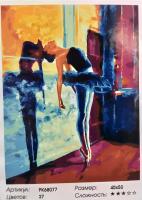 Картина по номерам Разминка балерины