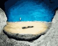Картины по номерам 40х50 Голубая лагуна