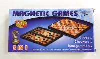 Настольная игра Шахматы магнитные 3 в 1