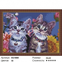 Алмазная мозаика 40х50 Котята